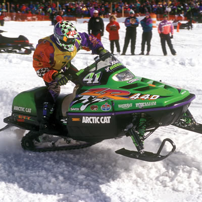 Tucker's first-ever snocross race occurred in West Yellowstone, Montana, in 1996.