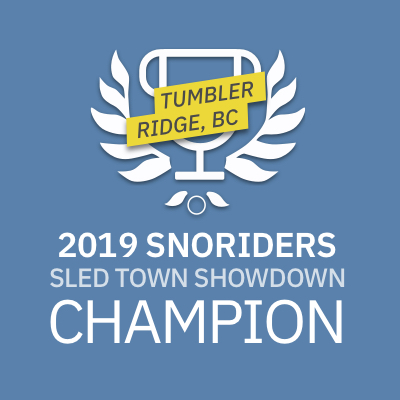 Tumbler Ridge is SnoRiders' 2019 SledTown ShowDown Champion