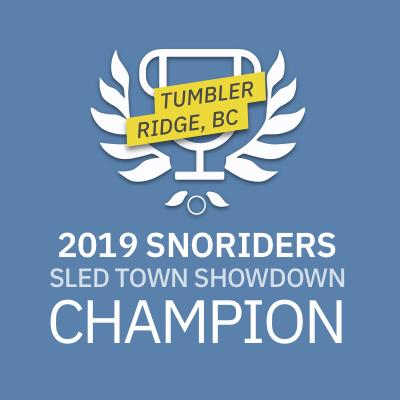 Tumbler Ridge is SnoRiders' 2019 SledTown ShowDown Champion