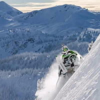 Snowmobiling in Revelstoke, B.C.