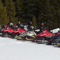 Members of the Swan City Snowmobile Club go out for a boys run.