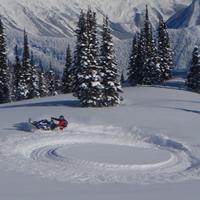 Snowmobiling in Valemount, B.C.