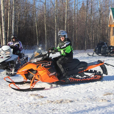 Two snowmobilers from Whitecourt, Alberta