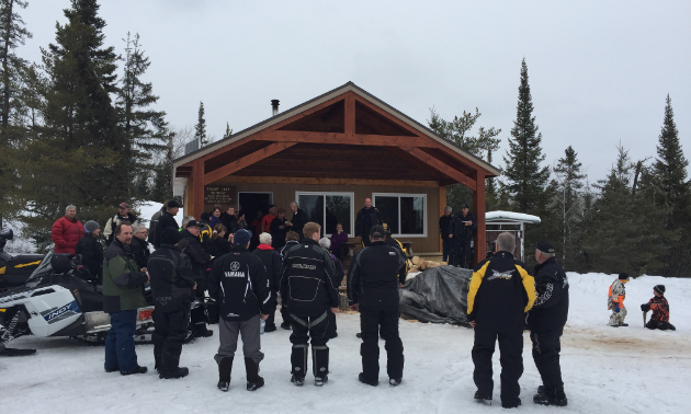 Swamp Lake Shelter is the Whiteshell Snowmobile Club's newest warm-up shelter.
