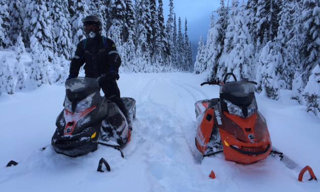 Experience parts of beautiful B.C. that can't be found without a snowmobile.