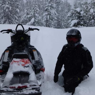 The mountains surrounding Tulameen guarantee heavy snowfall.