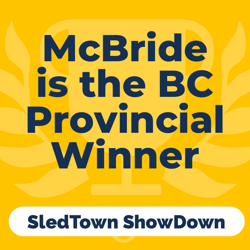 McBride is the BC Provincial Winner