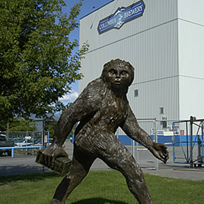 Yeti statue in front of Columbia Brewery, Creston.
