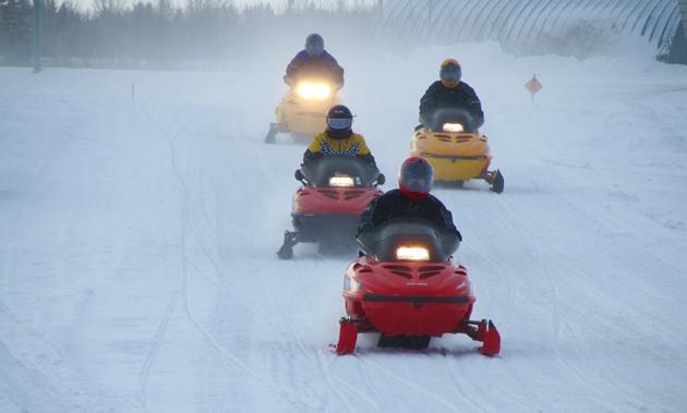 Snowmobiling in Yorkton, Saskatchewan