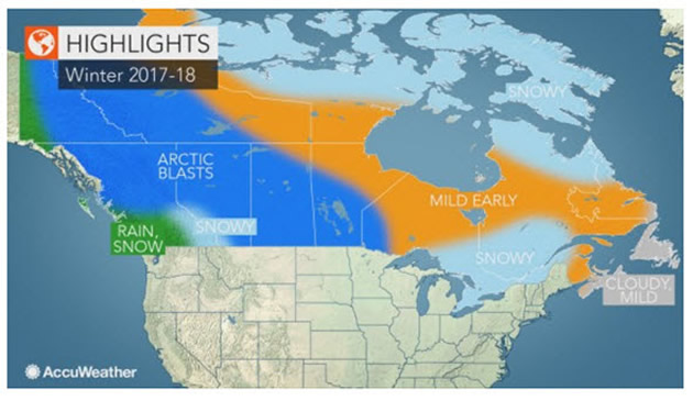 Good news for sledders from AccuWeather's 2017-2018 winter forecast