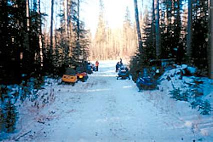 Iron Horse Trail sledders