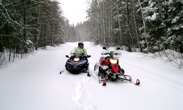 Riding in Whiteshell Provincial Park with a small kid.