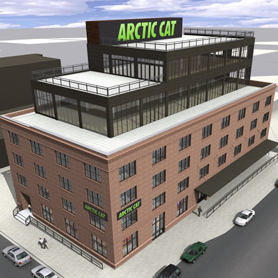 Arctic Cat's new downtown head office in Minneapolis, Minnesota.
