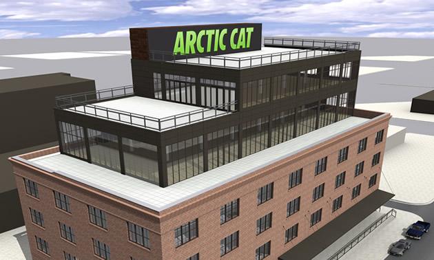 Arctic Cat's new downtown head office in Minneapolis, Minnesota.