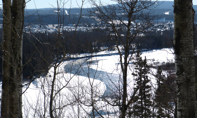 The Athabasca river from a lookout in Whitecourt