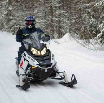 The snowmobiling trails in Athabasca will bring a smile to your face.