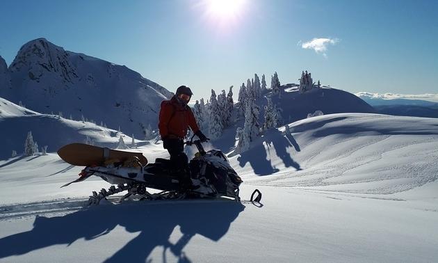 Snowmobiler in Blue River.
