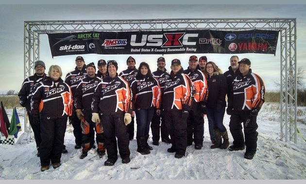Brian Nelson and his USXC race crew
