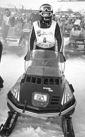 The 1978 I-500 win for Brian Nelson on an Arctic Cat snowmobile