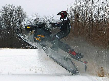Jason Yacey sledding