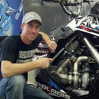 Chris Burandt with his turboed Polaris RMK.