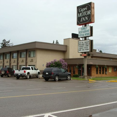 The exterior of the Capri Motor Inn, located in Smithers BC