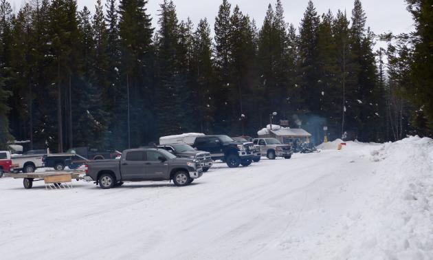 Snowmobile club meeting place.
