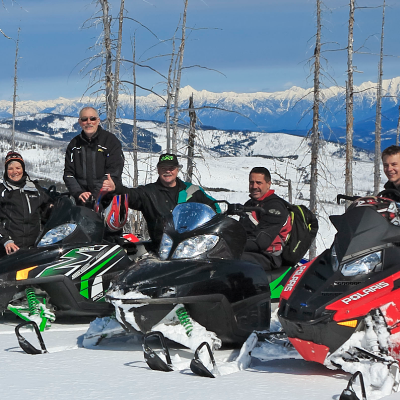 A group of Snowmobile Riders.