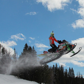 A rider getting some air on an Arctic Cat HCR