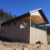 The cabin at Clemina Creek in Valemount.