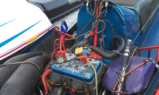 View of the sled's engine