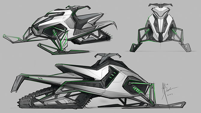 Clean lines, sharp angles and great looks adds this model to any snowmobiler's wish list.