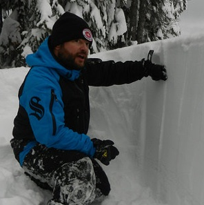 Curtis Pawliuk sledcom chair and owner operator of Frozen Pirate Snow Services in picture