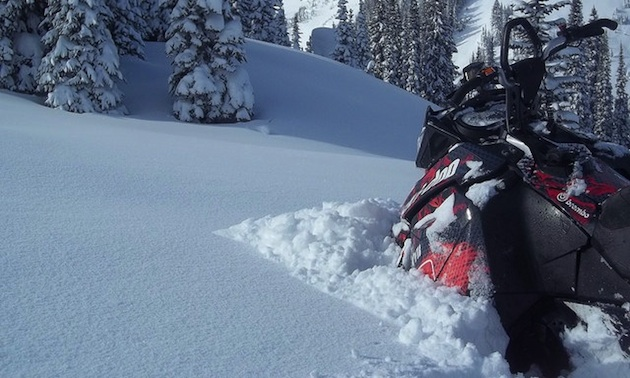 deep snow in Valemount, BC