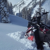 deep snow in Valemount, BC