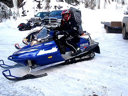 Dwayne on a sled