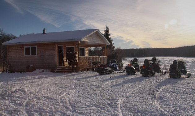 The Stewart family and their friends at the Green Lake Shack in Duck Mountain Provincial Park. Photo by:  Cheryl Stewart
