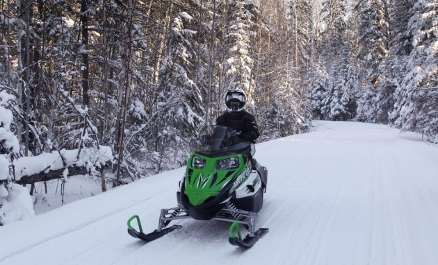Cheryl Stewart's daughter Kelsey riding in Duck Mountain Provincial Park.