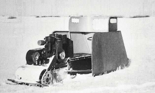 The Eggleton Power Toboggan was created in Raymore, Saskatchewan by Gordon Eggleton, somewhat similar to the one reader Cal Carter remembers.