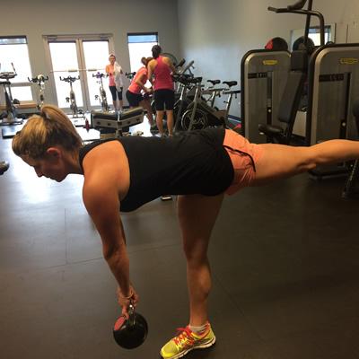 Julie-Ann Chapman in the gym.