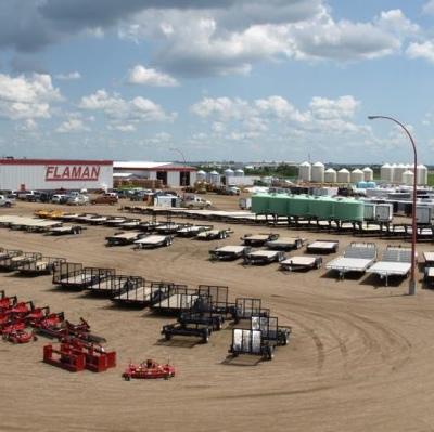 Flaman Trailers warehouse in Saskatoon