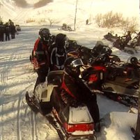 Fort Qu'Appelle is a snowmobiler's paradise.