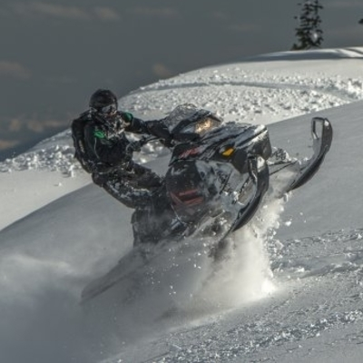 sledder in Revelstoke
