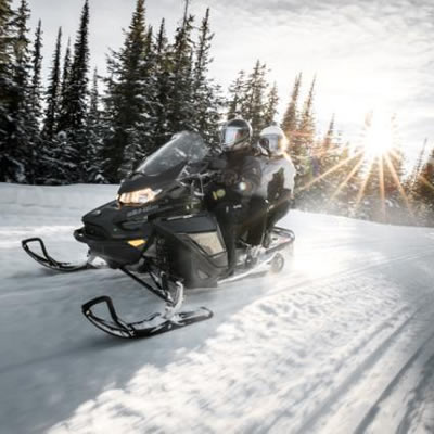 Many 2019 Ski-Doo models, including the Grand Touring, will feature the incredibly responsive REV Gen4 platform with both 2- and 4-stroke power and a new turbocharged engine.