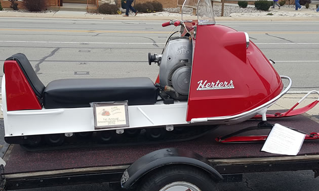 1968 fully restored Herters snowmobile.