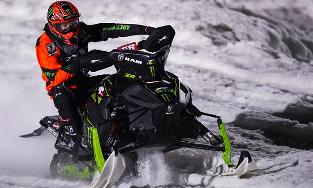 Tucker Hibbert on sled.