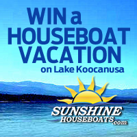 Enter to win a four-night stay from Sunshine Houseboat Vacations
