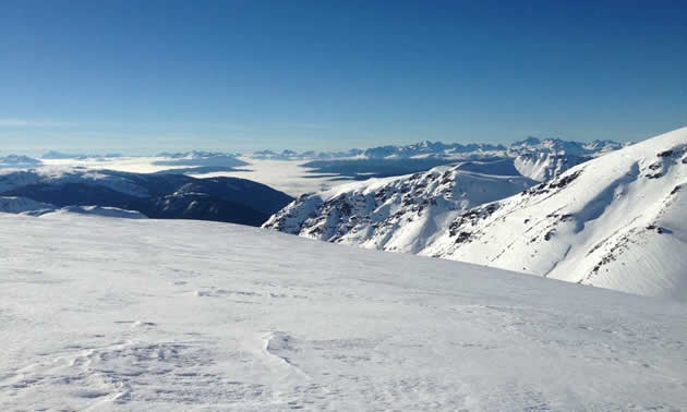 Scenic mountain view in the Telkwa Range.