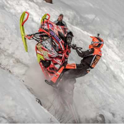 The hill at Snow King Resort always provides some of the toughest challenges in the world of snowmobile hillclimbing.