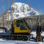 Joe Trotz grooming trails in the Crowsnest Pass.